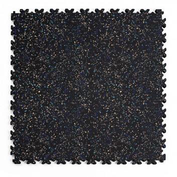 Kvalitná a odolná čierna recyklovaná podlaha Fortelock ECO Granit s potlačou (7 mm)
