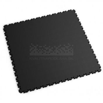 Ultra tenká (4 mm) veľkoformátová čierna PVC dlaždica Fortelock