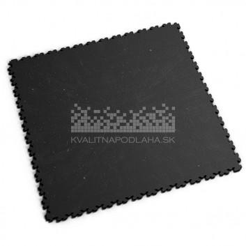 Ultra tenká (4 mm) veľkoformátová recyklovaná čierna PVC dlaždica Fortelock XL