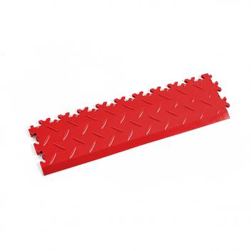 Červená nájazdová rampa k podlahám Fortelock Industry a Light.