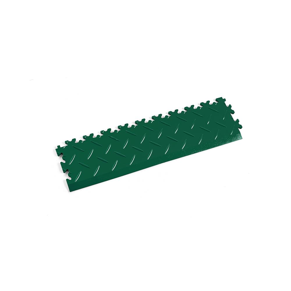 Zelená nájazdová rampa k podlahám Fortelock Industry a Light.