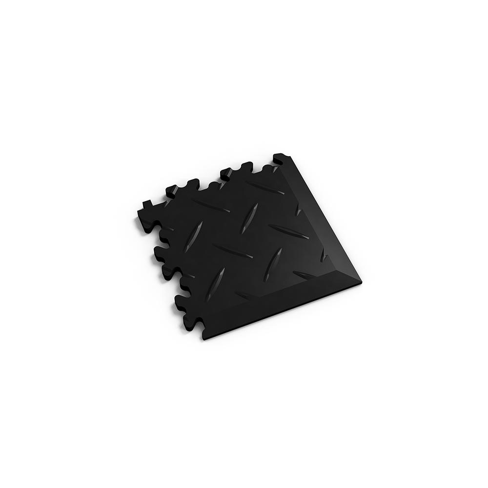 Čierny nájazdový roh k podlahám Fortelock Industry a Light.