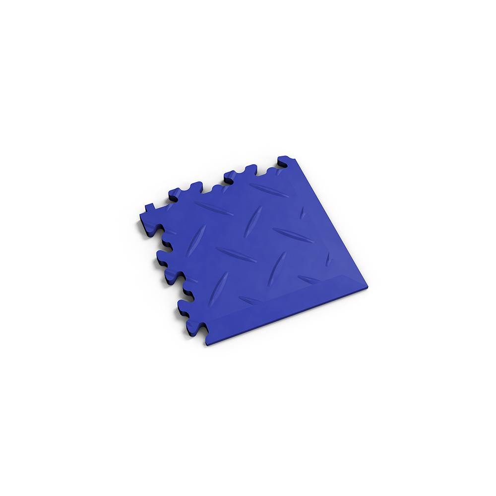 Modrý nájazdový roh k podlahám Fortelock Industry a Light.
