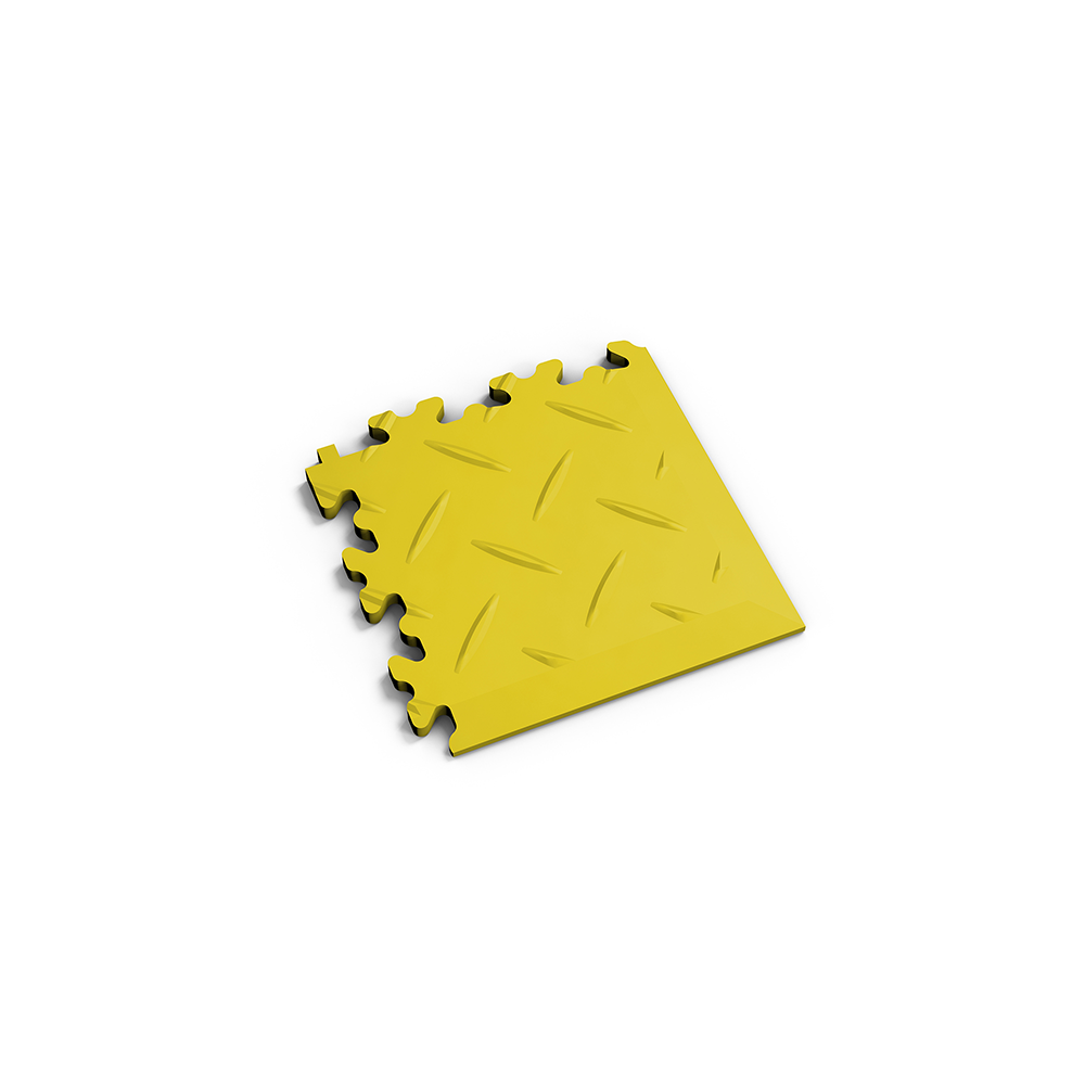 Žltý nájazdový roh k podlahám Fortelock Industry a Light.