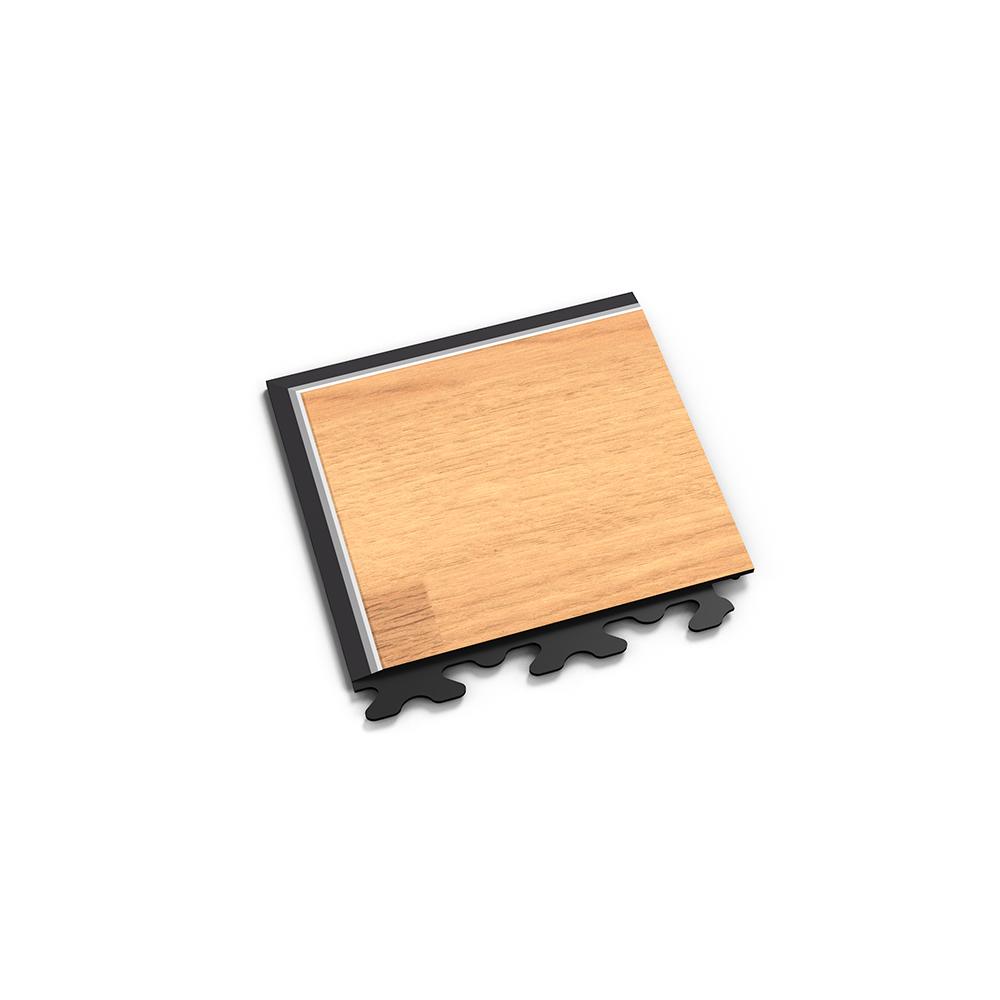 Nájazdový roh k podlahe Fortelock Home s imitáciou drevenej podlahy
