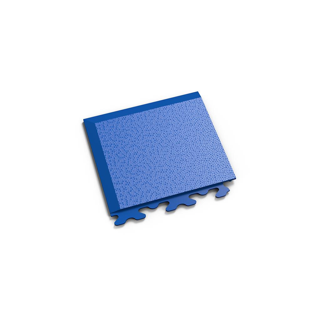 Modrý nájazdový roh k podlahám Fortelock Invisible.