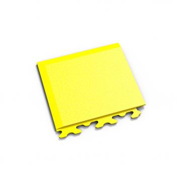 Žltý nájazdový roh k podlahám Fortelock Invisible.
