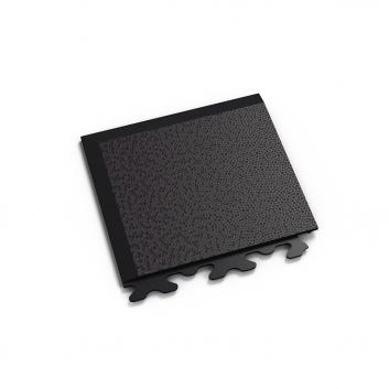 Čierny nájazdový roh k ekologickým podlahám Fortelock ECO Invisible so skrytými zámkami.