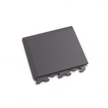 Sivý nájazdový roh k ekologickým podlahám Fortelock ECO Invisible so skrytými zámkami.