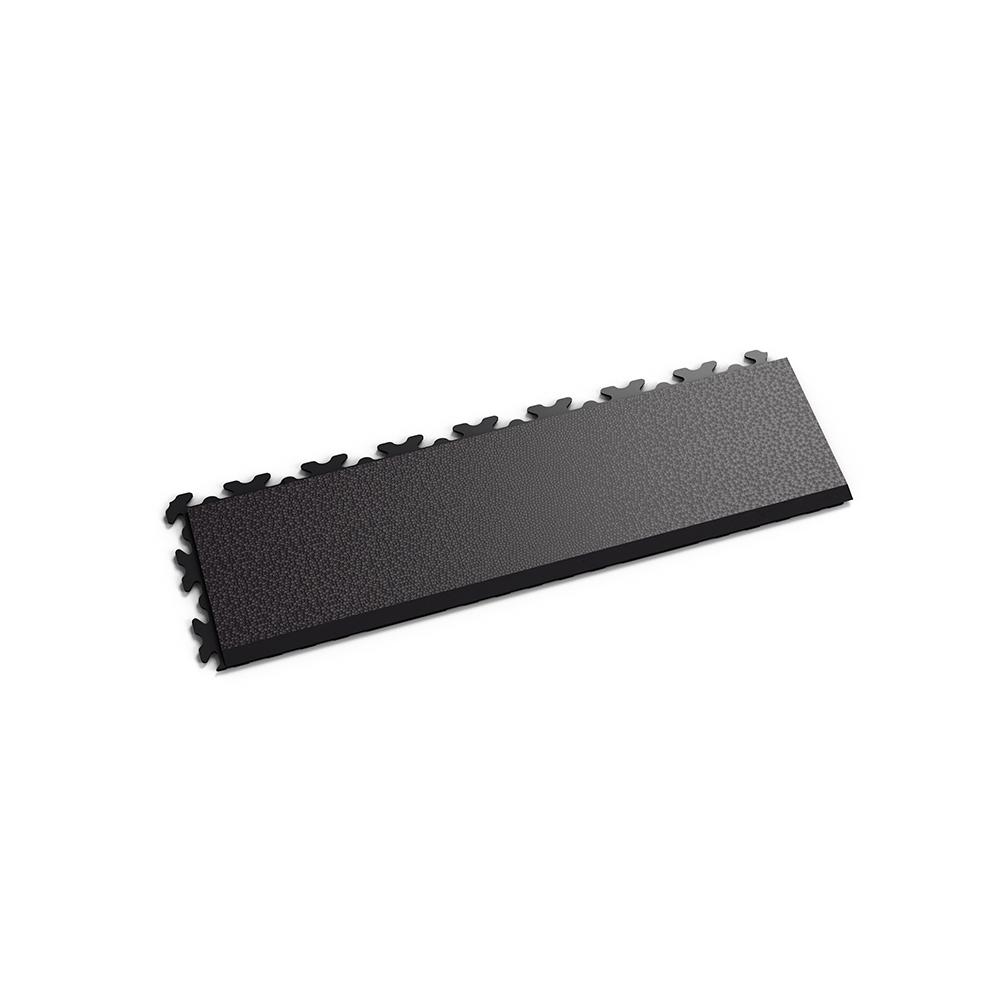 Čierna nájazdová rampa k ekologickým podlahám Fortelock ECO Invisible so skrytými zámkami.