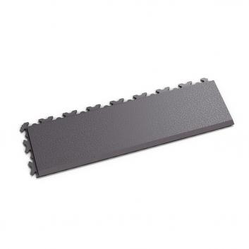 Sivá nájazdová rampa k ekologickým podlahám Fortelock ECO Invisible so skrytými zámkami.