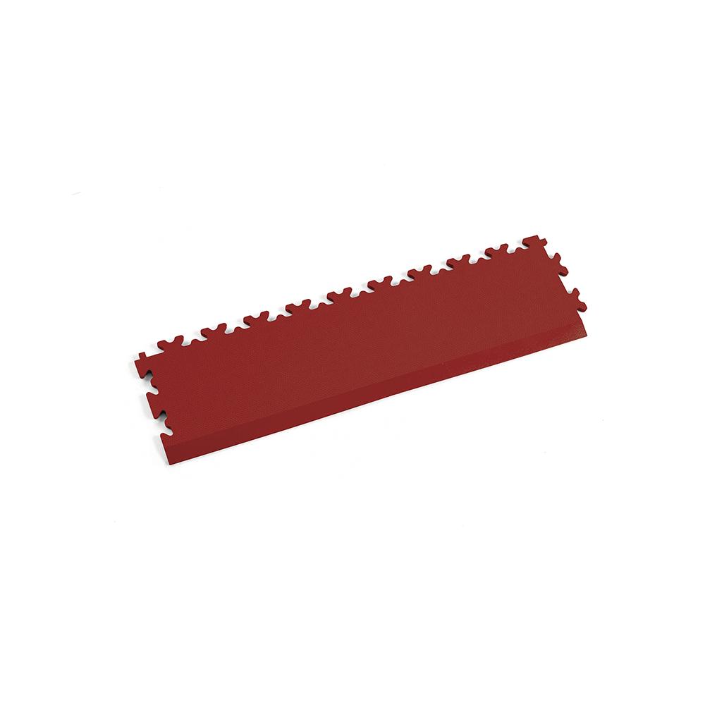 Tmavo červená nájazdová rampa k podlahám Fortelock Industry a Light.