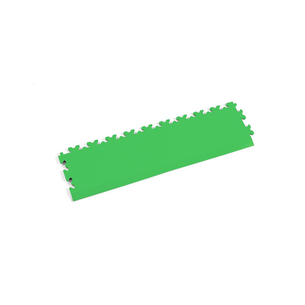 Svetlo zelená nájazdová rampa k podlahám Fortelock Industry a Light.