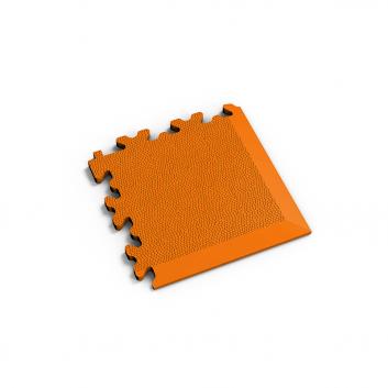 Oranžový nájazdový roh k podlahám Fortelock Industry a Light.