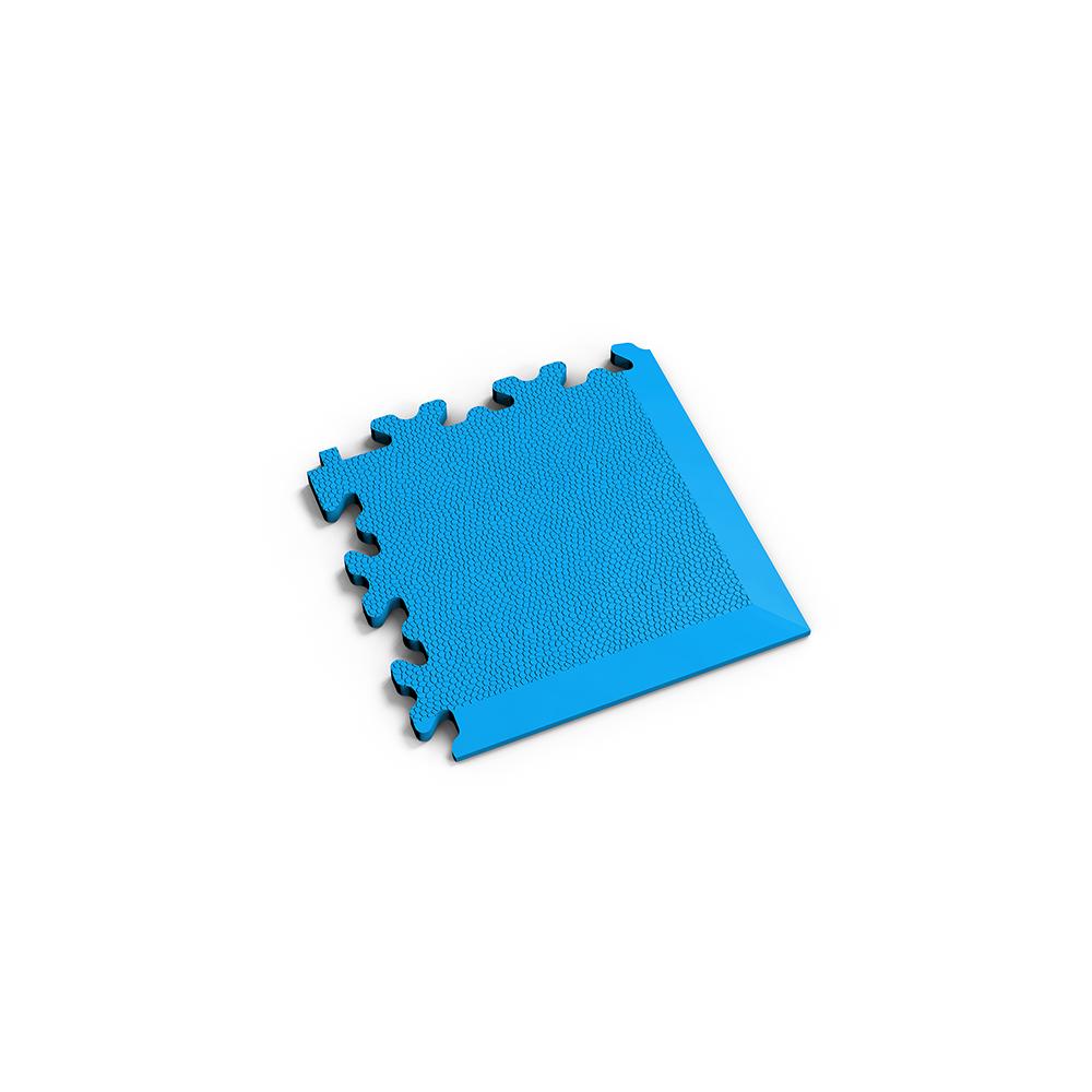 Svetlo modrý nájazdový roh k podlahám Fortelock Industry a Light.