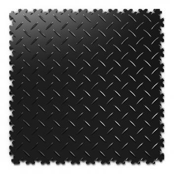 Kvalitná a odolná čierna podlaha Fortelock Industry (7 mm)