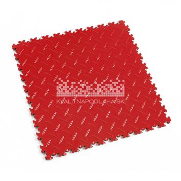 Kvalitná a odolná červená podlaha Fortelock Industry (7 mm)