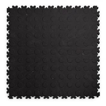Kvalitná a odolná čierna recyklovaná podlaha Fortelock ECO (7 mm)