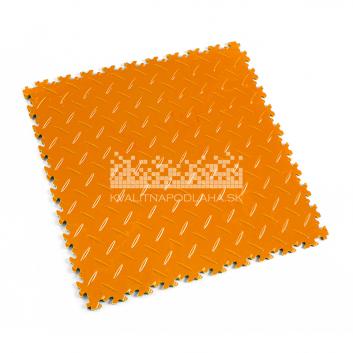 Kvalitná a odolná oranžová podlaha Fortelock Industry (7 mm)