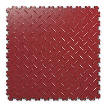 Kvalitná a odolná tmavo červená podlaha Fortelock Industry (7 mm)