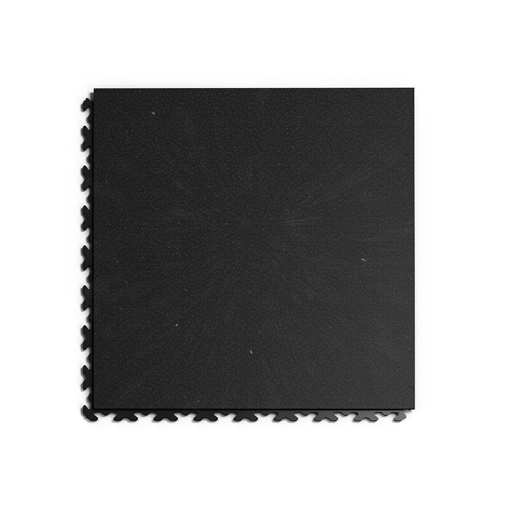 Kvalitná recyklovaná a odolná čierna podlaha Fortelock ECO Invisible