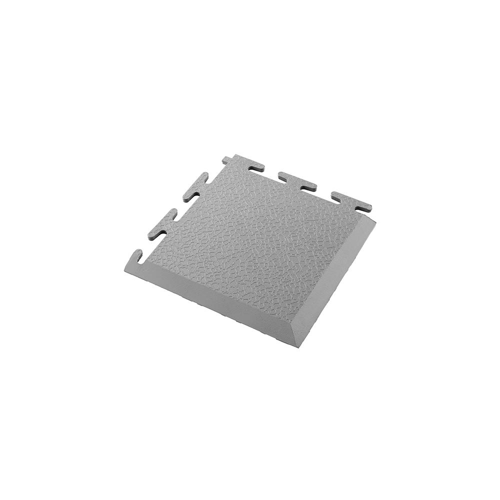 Sivý nájazdový roh k PVC podlahám Ecotile E500/5