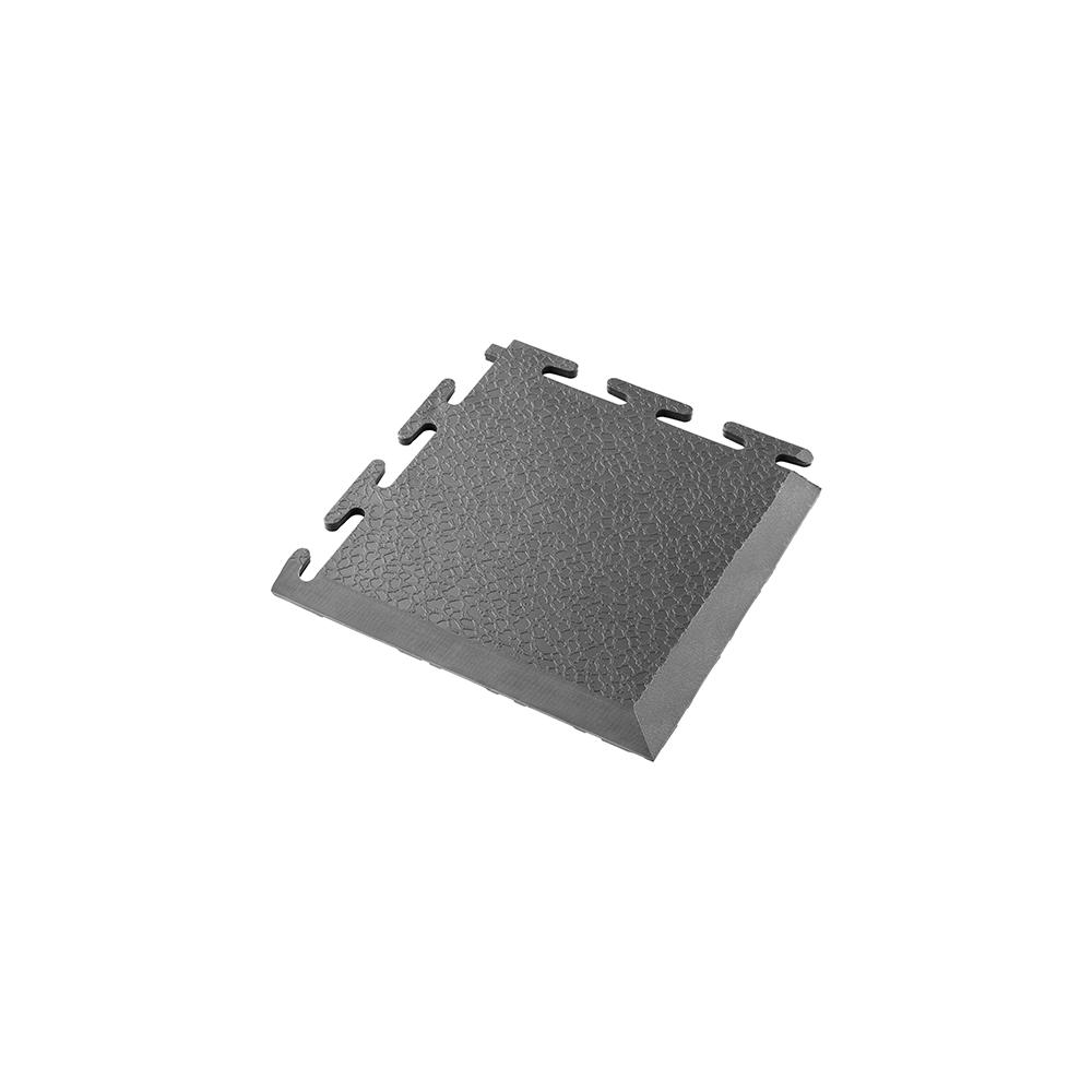 Tmavo sivý nájazdový roh k PVC podlahám Ecotile E500/5
