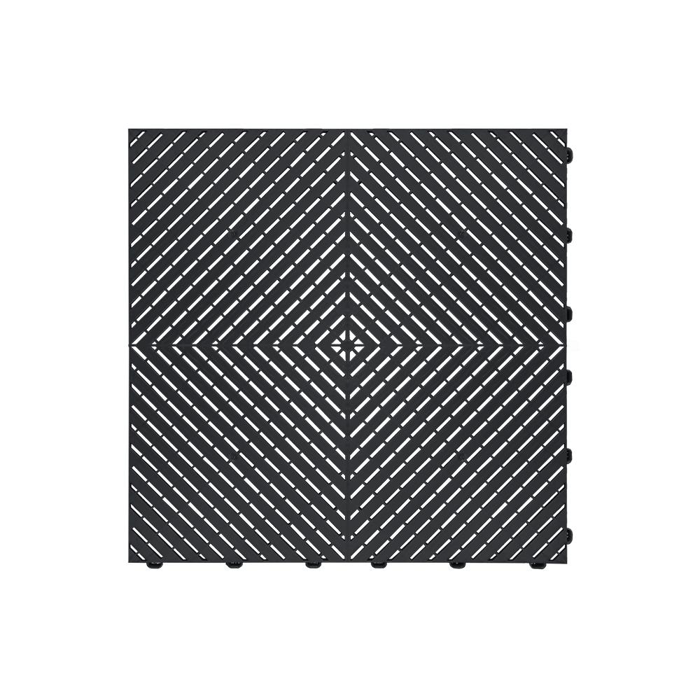 Odolná perforovaná PPC dlažba Swisstrax Ribtrax Smooth (čierna)