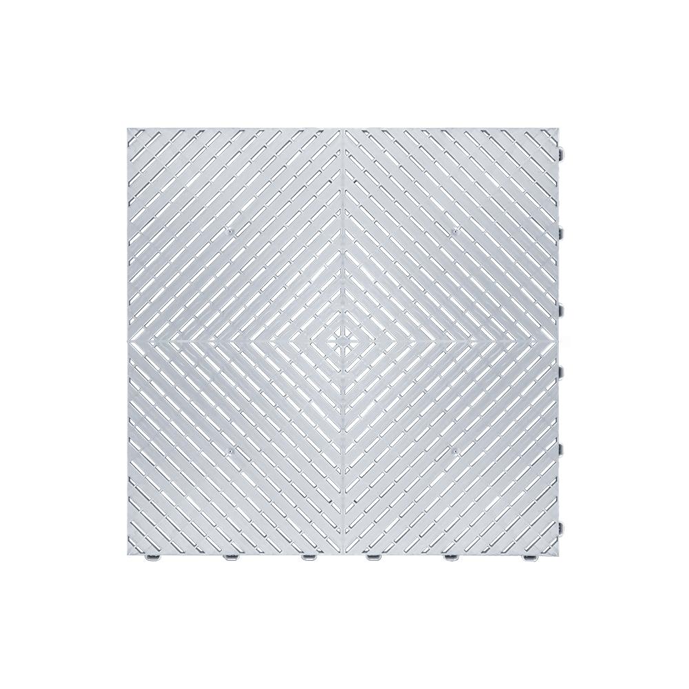 Odolná perforovaná PPC dlažba Swisstrax Ribtrax Smooth (strieborná)