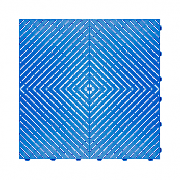 Odolná perforovaná PPC dlažba Swisstrax Ribtrax Smooth (modrá)