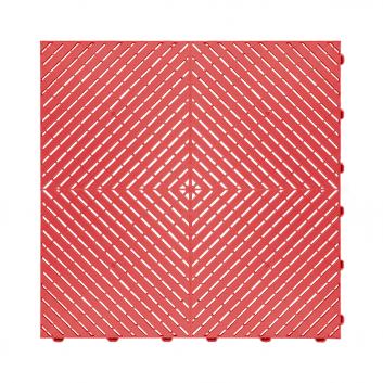 Odolná perforovaná PPC dlažba Swisstrax Ribtrax Smooth (červená)