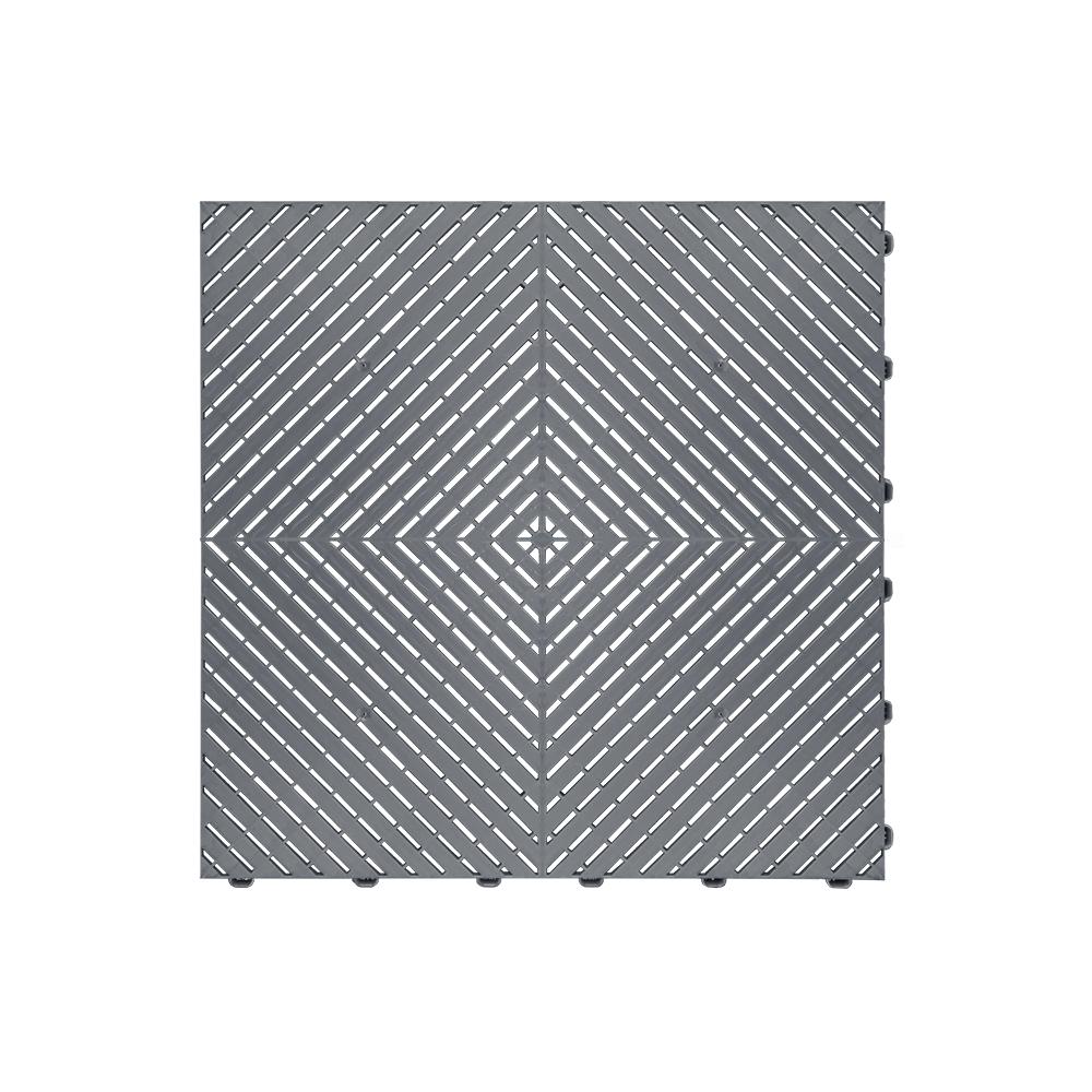 Odolná perforovaná PPC dlažba Swisstrax Ribtrax Smooth (tmavo sivá)