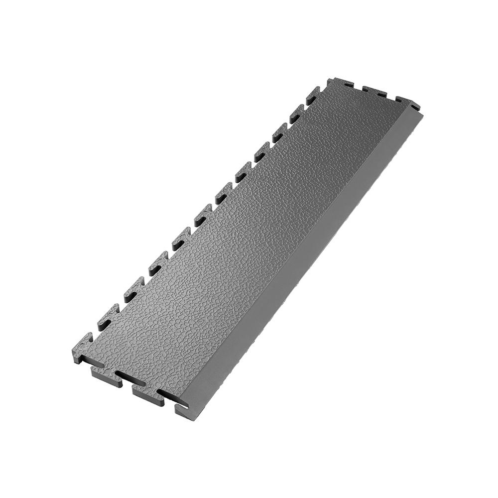 Tmavo sivá nájazdová rampa k PVC podlahám Ecotile E500/10