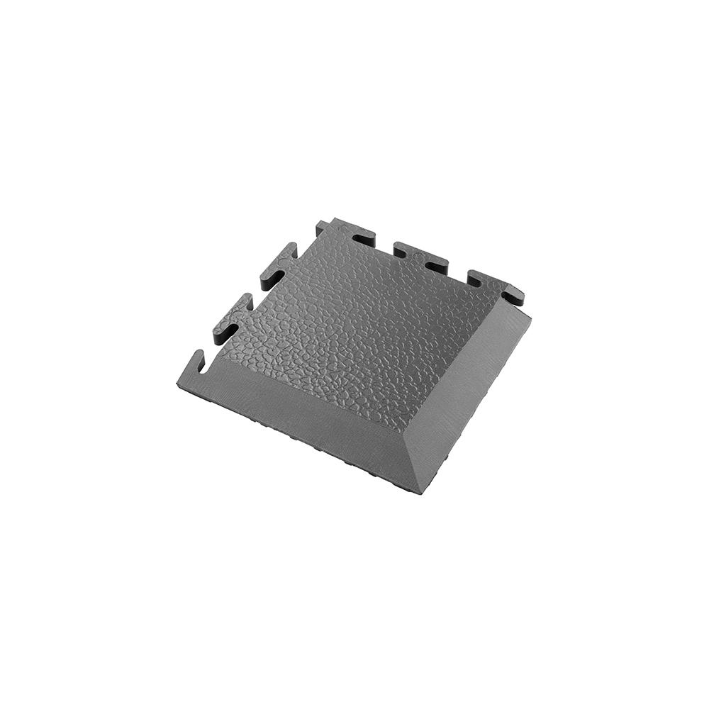 Tmavo sivý nájazdový roh k PVC podlahám Ecotile E500/10
