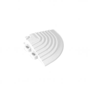 Nájazdový roh k odolným PPC podlahám Swisstrax (biely)