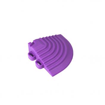 Nájazdový roh k odolným PPC podlahám Swisstrax (fialový)