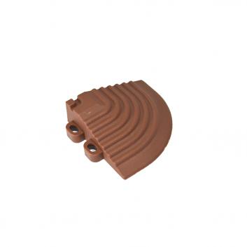 Nájazdový roh k odolným PPC podlahám Swisstrax (hnedý)