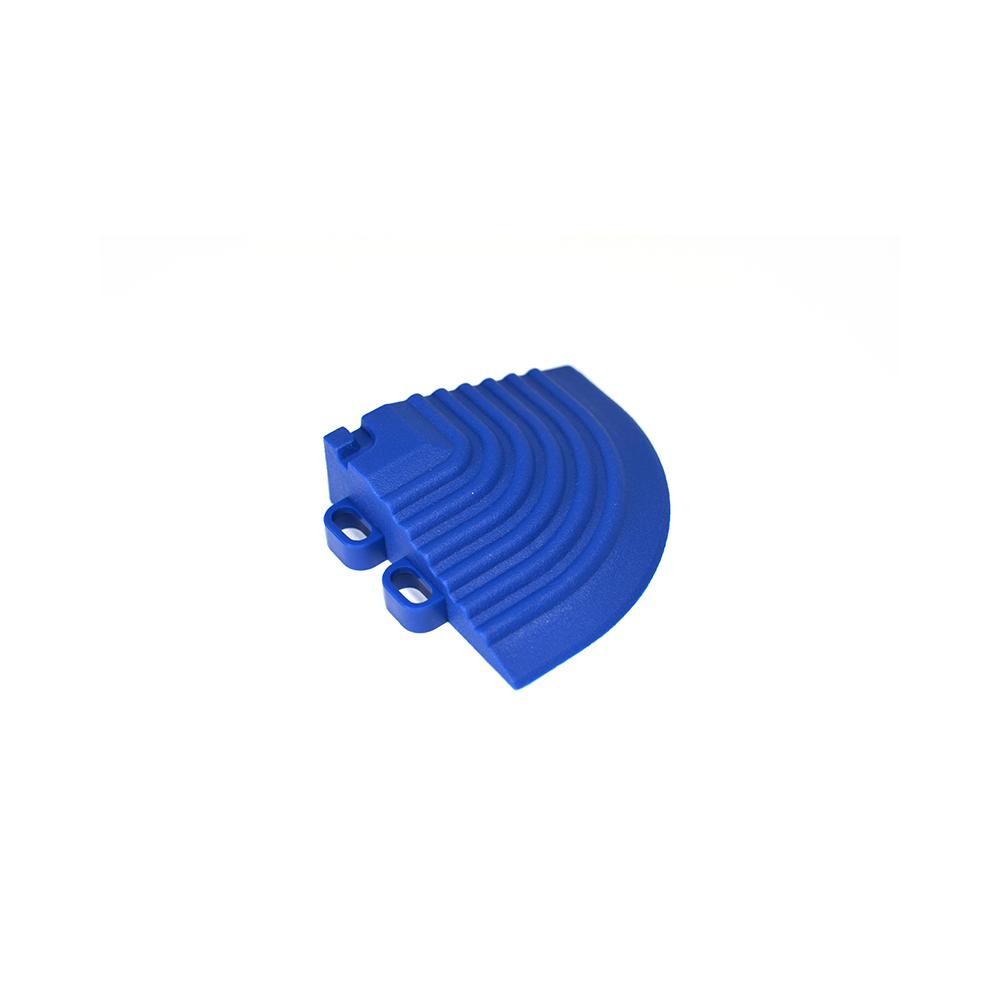 Nájazdový roh k odolným PPC podlahám Swisstrax (modrý)