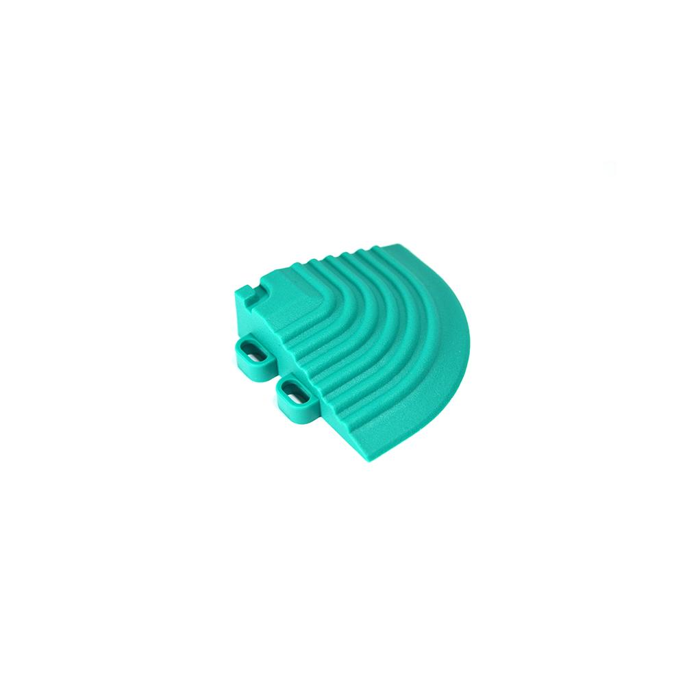 Nájazdový roh k odolným PPC podlahám Swisstrax (modro zelený)