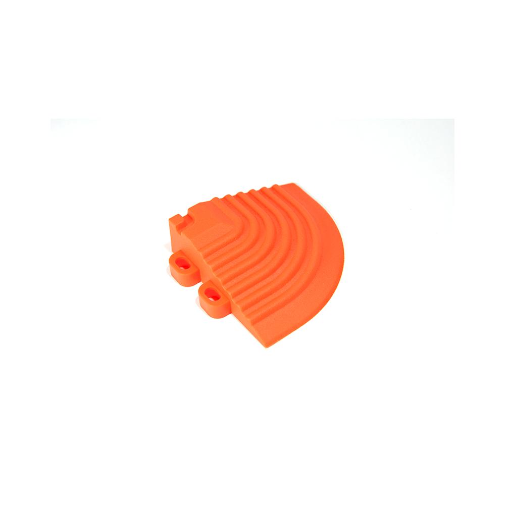 Nájazdový roh k odolným PPC podlahám Swisstrax (oranžový)