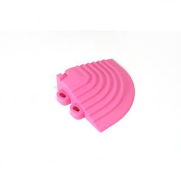 Nájazdový roh k odolným PPC podlahám Swisstrax (ružový)