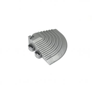 Nájazdový roh k odolným PPC podlahám Swisstrax (sivý)