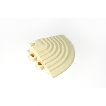 Nájazdový roh k odolným PPC podlahám Swisstrax (slonovinový)