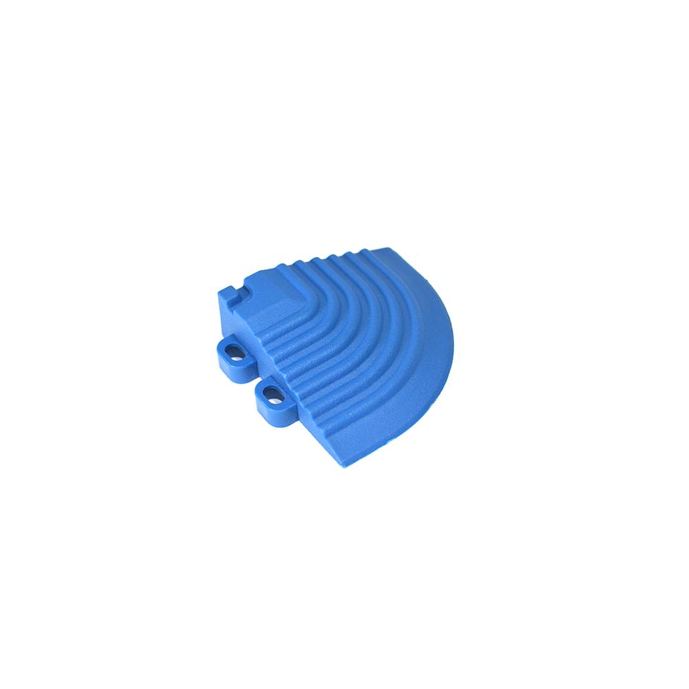 Nájazdový roh k odolným PPC podlahám Swisstrax (svetlo modrý)