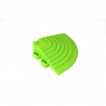 Nájazdový roh k odolným PPC podlahám Swisstrax (svetlo zelený)