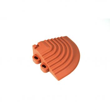 Nájazdový roh k odolným PPC podlahám Swisstrax (tmavo oranžový)