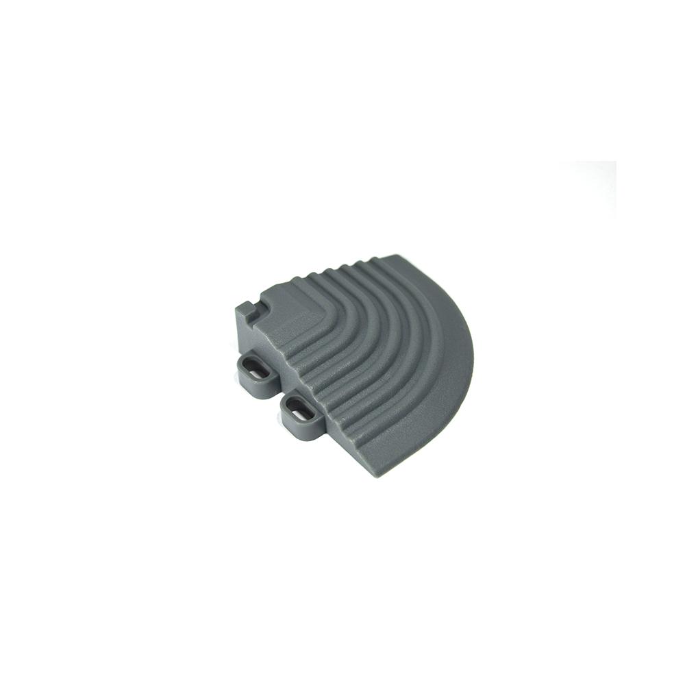 Nájazdový roh k odolným PPC podlahám Swisstrax (tmavo sivý)