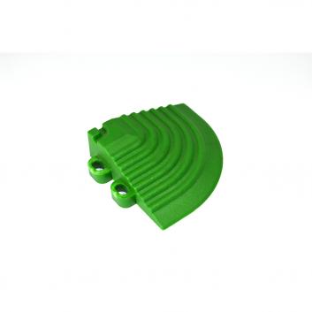 Nájazdový roh k odolným PPC podlahám Swisstrax (zelený)