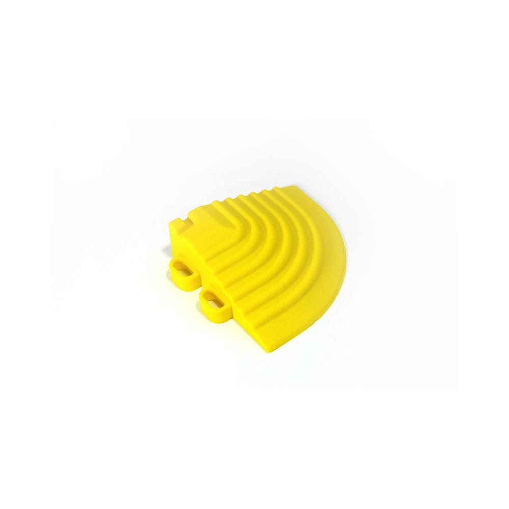 Nájazdový roh k odolným PPC podlahám Swisstrax (žltý)