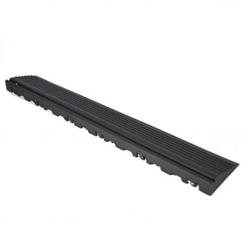 Nájazdová rampa (typ B) k odolným PPC podlahám Swisstrax (čierna)